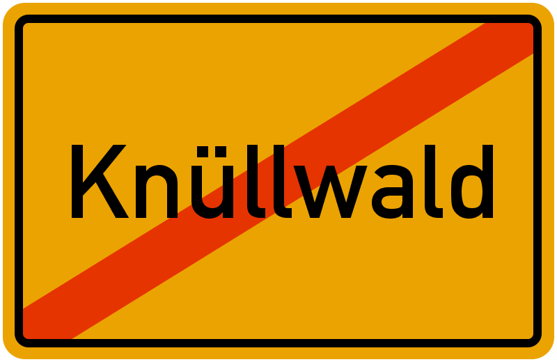 Ortsschild Knüllwald