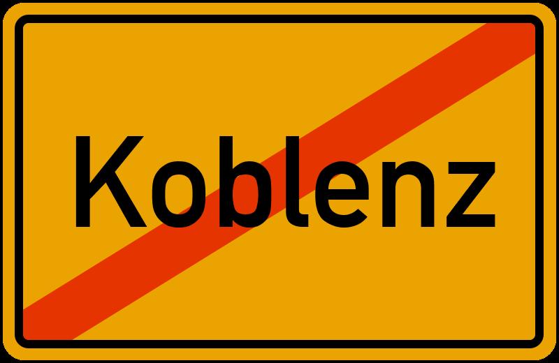 Ortsschild Koblenz