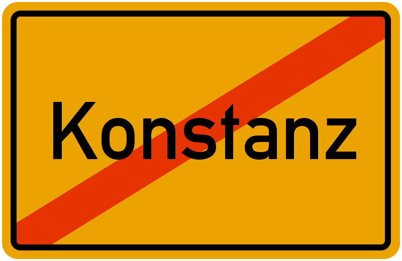 Ortsschild Konstanz