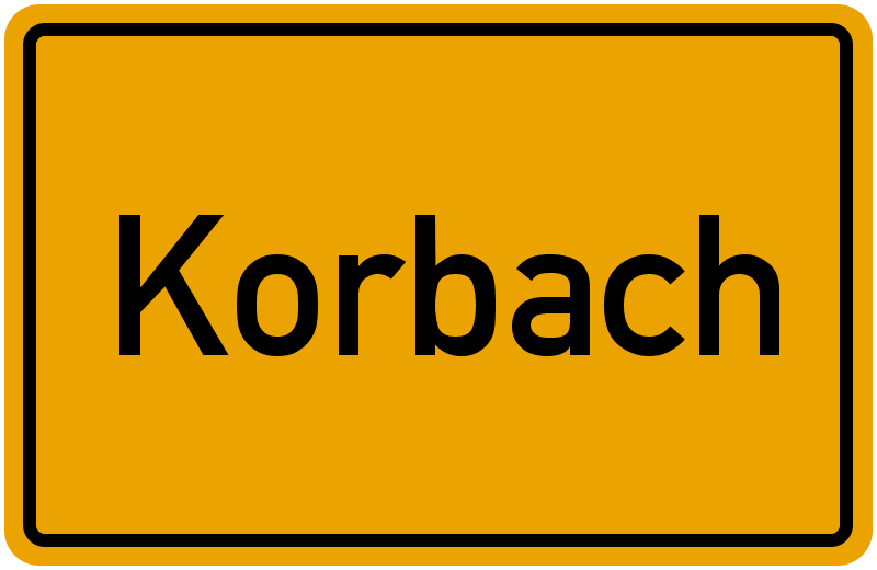 Ortsschild Korbach