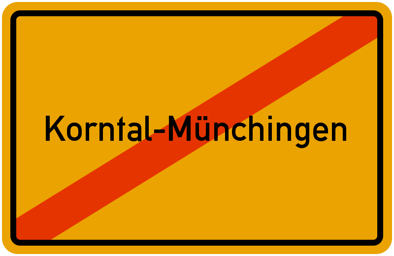 Ortsschild Korntal-Münchingen