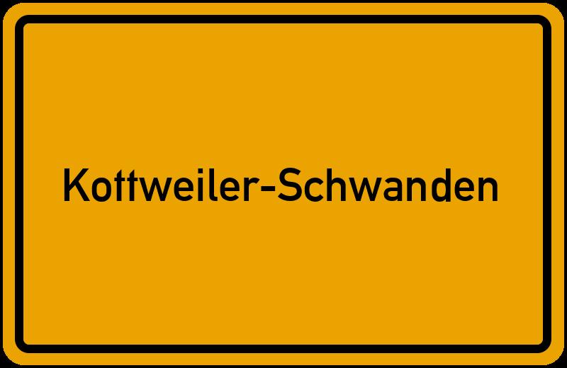 Ortsschild Kottweiler-Schwanden