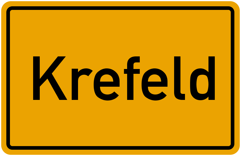 Ortsschild Krefeld