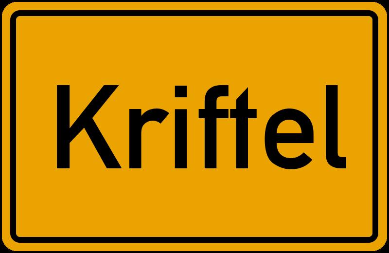 Ortsschild Kriftel