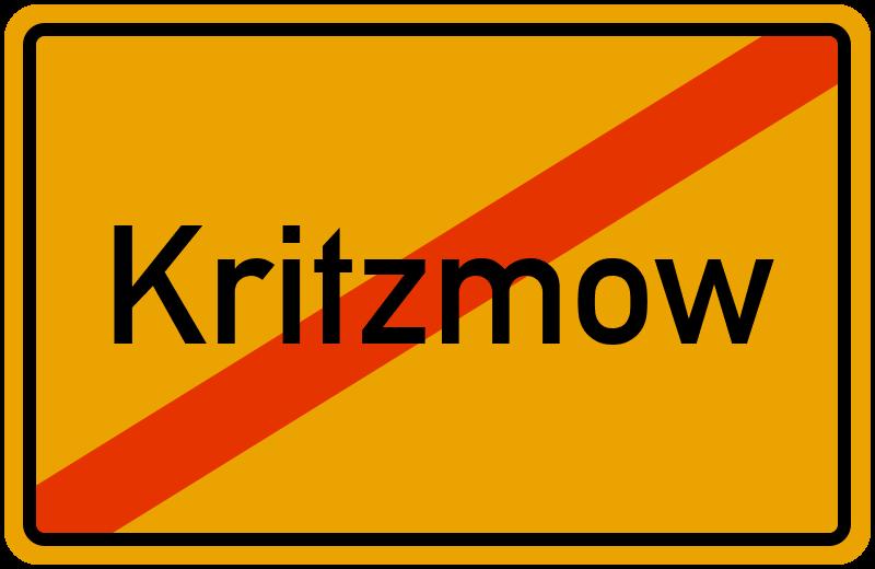 Ortsschild Kritzmow