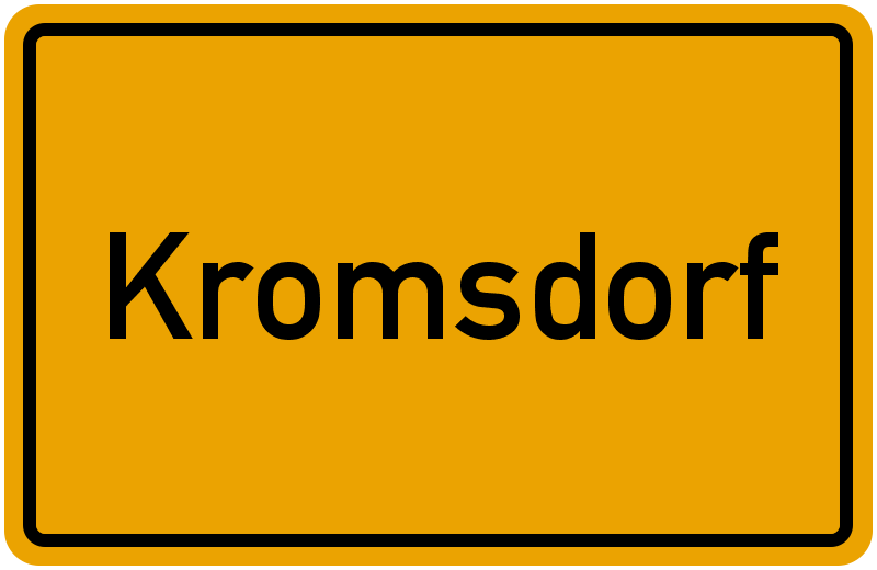 Ortsschild Kromsdorf