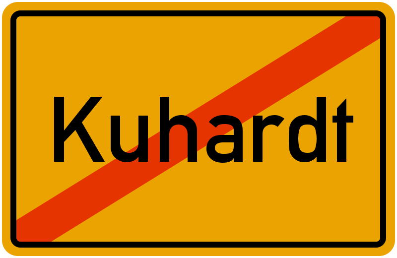 Ortsschild Kuhardt