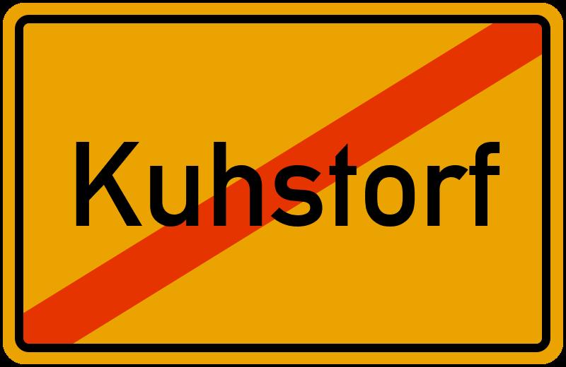Ortsschild Kuhstorf