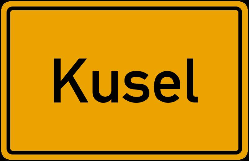 Ortsschild Kusel