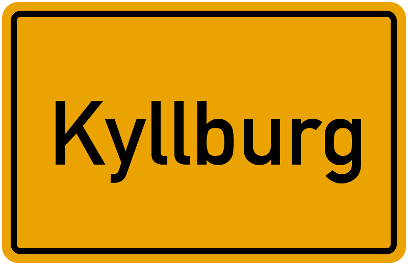 Ortsschild Kyllburg