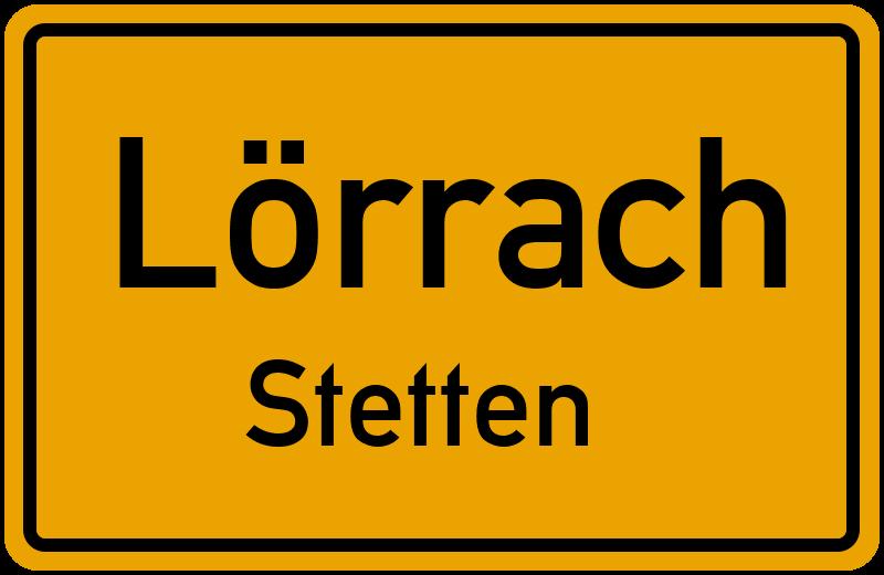 Ortsschild Lörrach
