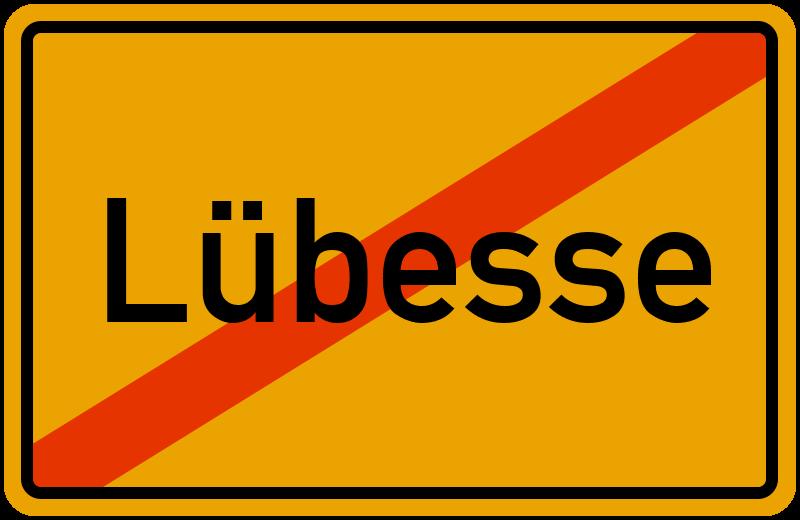Ortsschild Lübesse