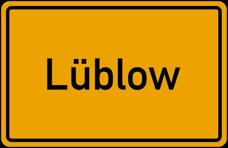 Ortsschild Lüblow