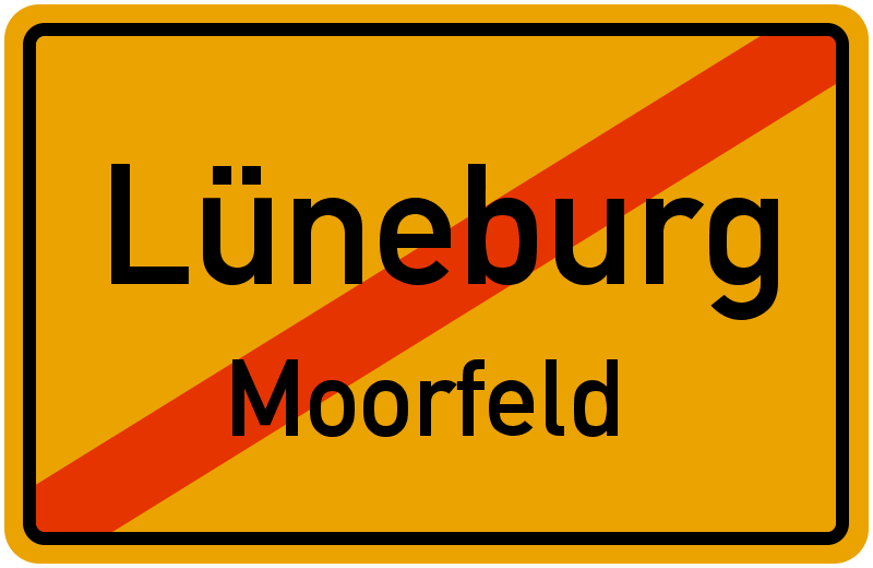 Ortsschild Lüneburg