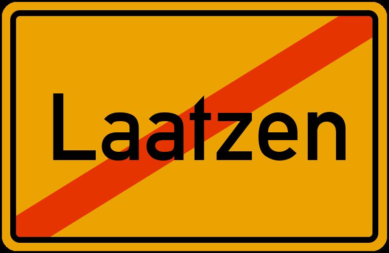 Ortsschild Laatzen