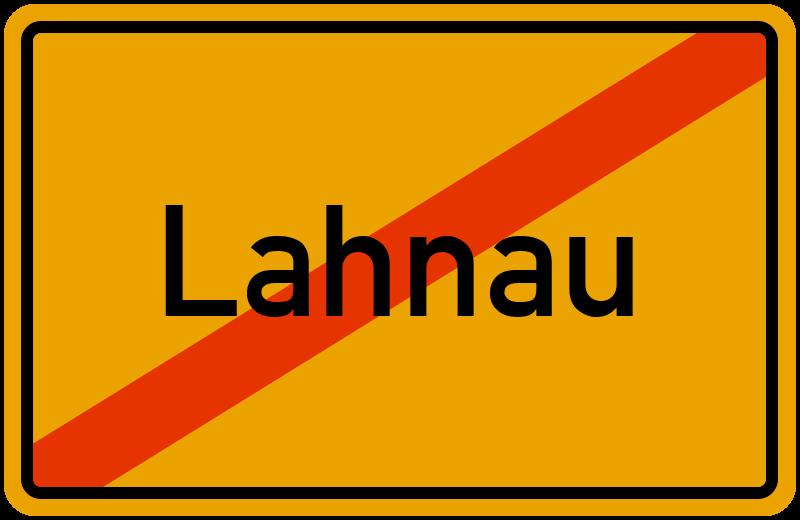 Ortsschild Lahnau