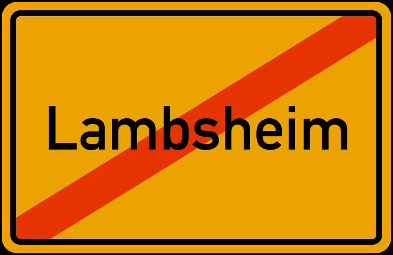 Ortsschild Lambsheim