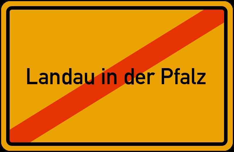 Ortsschild Landau in der Pfalz