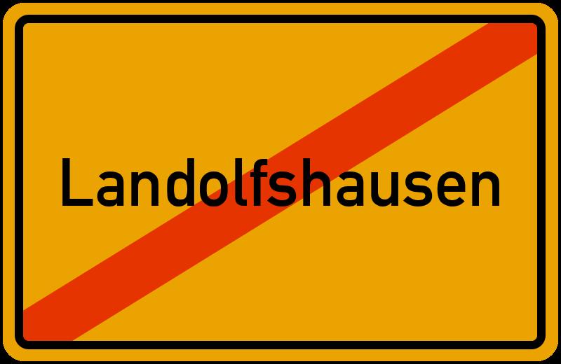 Ortsschild Landolfshausen