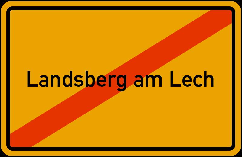 Ortsschild Landsberg am Lech