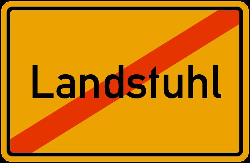 Ortsschild Landstuhl