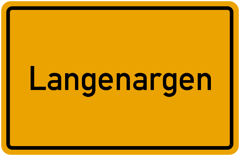 Ortsschild Langenargen