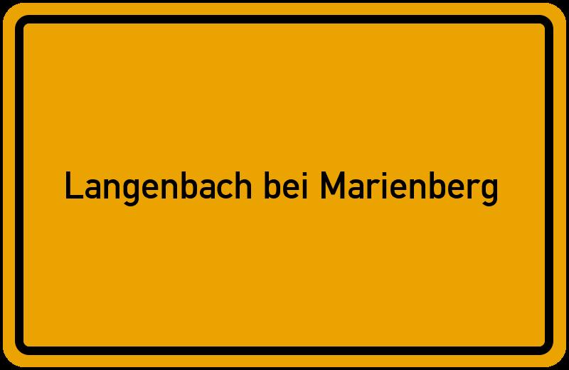 Ortsschild Langenbach bei Marienberg