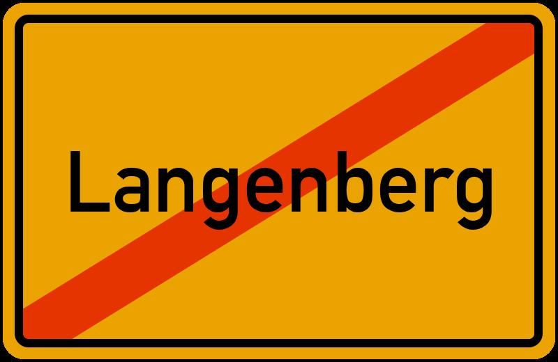 Ortsschild Langenberg