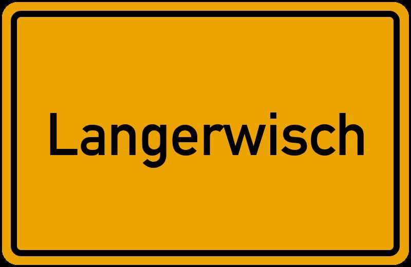 Ortsschild Langerwisch