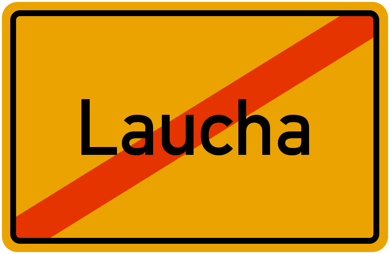 Ortsschild Laucha
