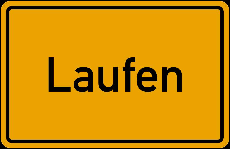 Ortsschild Laufen