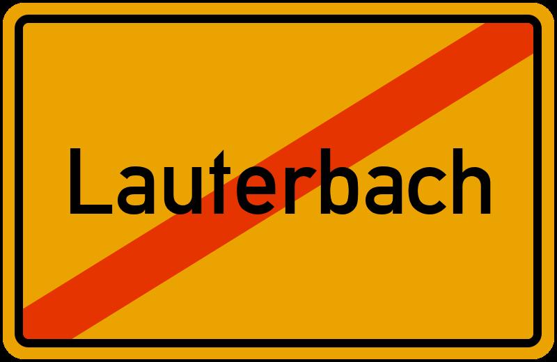 Ortsschild Lauterbach