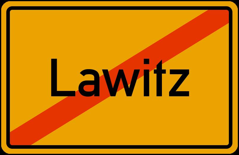 Ortsschild Lawitz