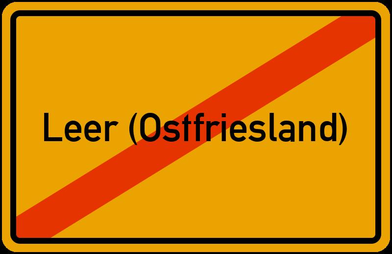Ortsschild Leer (Ostfriesland)