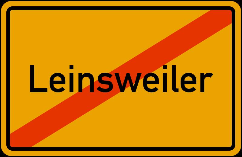 Ortsschild Leinsweiler