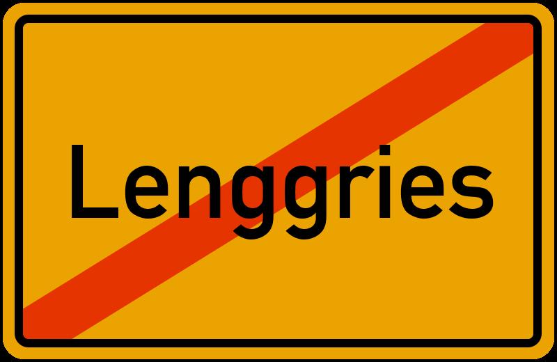 Ortsschild Lenggries