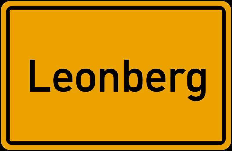 Ortsschild Leonberg