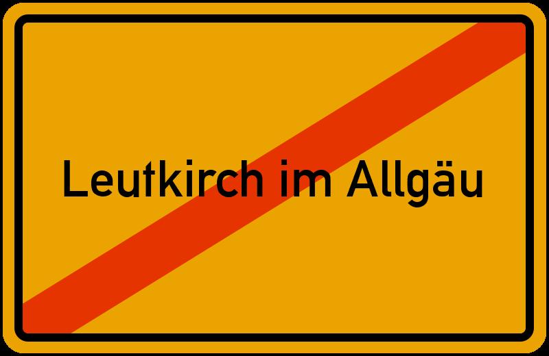 Ortsschild Leutkirch im Allgäu