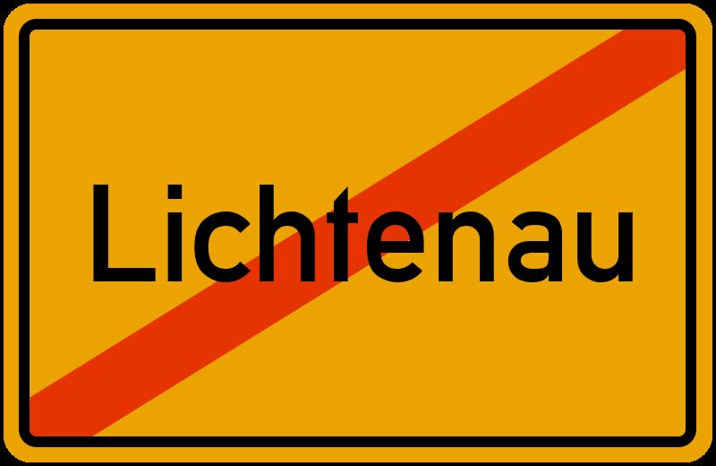 Ortsschild Lichtenau