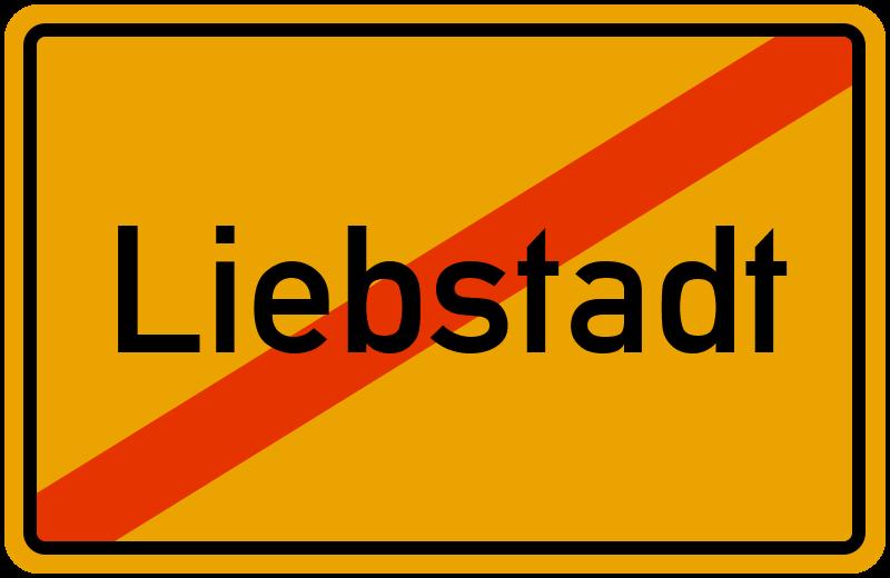 Ortsschild Liebstadt