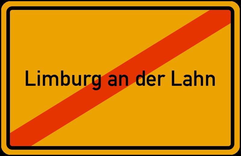 Ortsschild Limburg an der Lahn