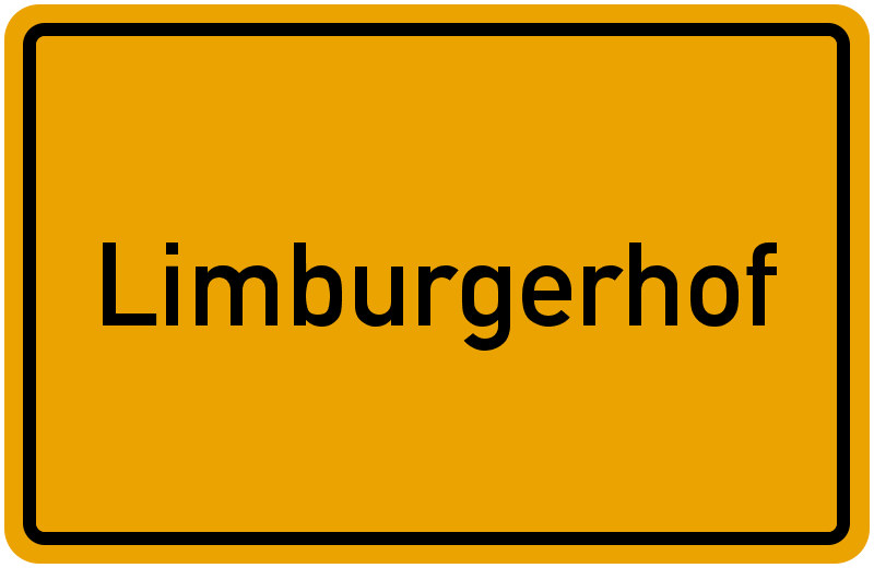 Ortsschild Limburgerhof