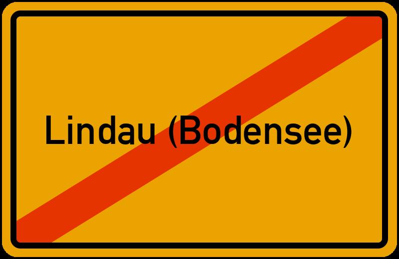 Ortsschild Lindau (Bodensee)
