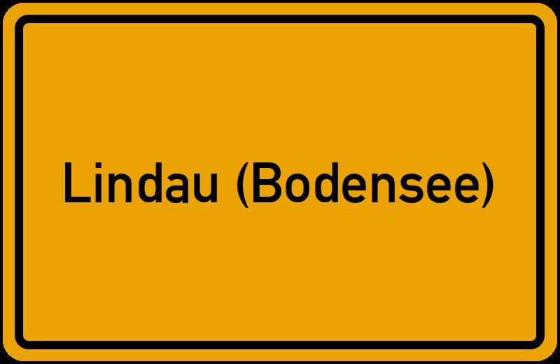 Ortsschild Lindau Bodensee Kostenlos Download Drucken