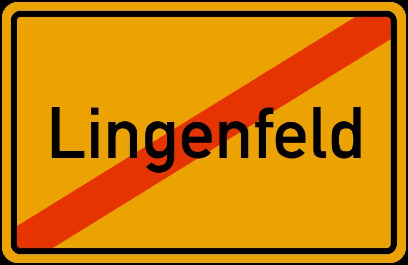 Ortsschild Lingenfeld