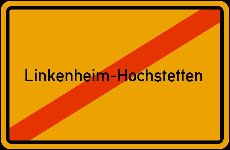 Ortsschild Linkenheim-Hochstetten