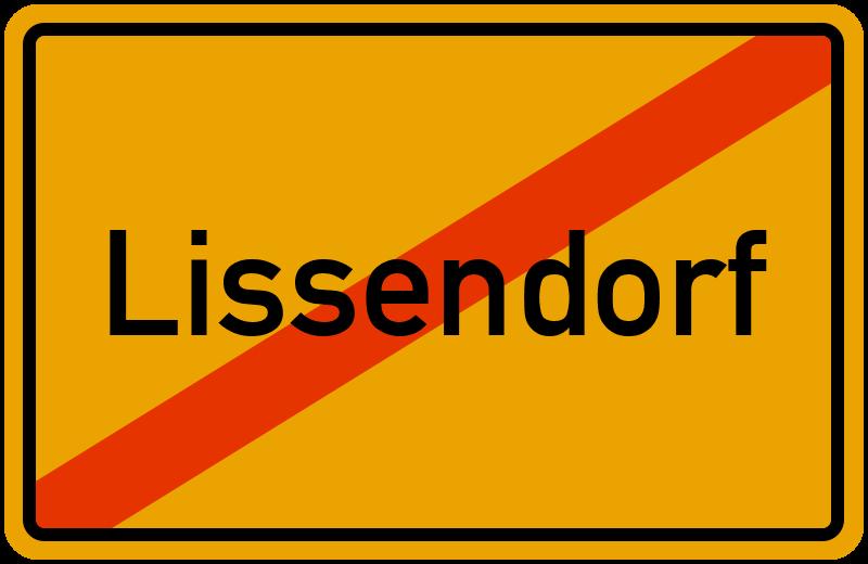 Ortsschild Lissendorf