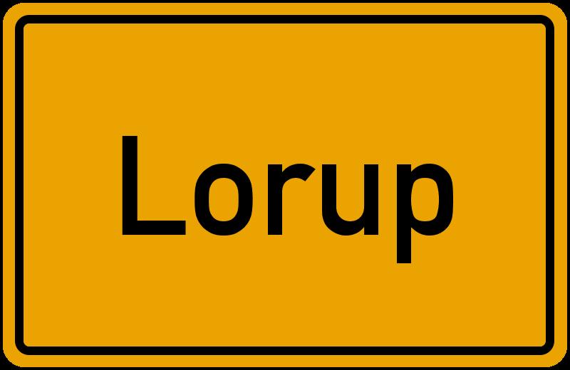 Ortsschild Lorup