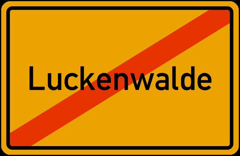 Ortsschild Luckenwalde