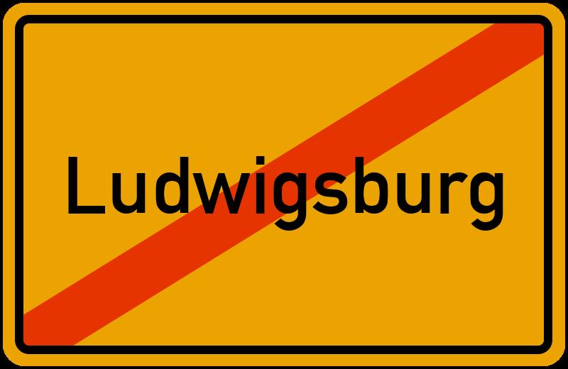 Ortsschild Ludwigsburg